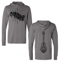 Railroad Earth - Compass/Guitar Long Sleeve Hooded Shirt