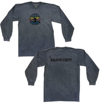 Railroad Earth - Men's Rainbow Foil Tree Dyed Longsleeve