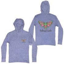 Railroad Earth - Unisex Butterfly Hooded Tee