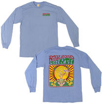 Railroad Earth - Men's Lt. Blue Owl Tree Long Sleeve
