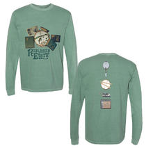 Railroad Earth - Men's Dyed Green Collage Long Sleeve
