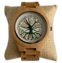 Railroad Earth - Tree Logo Wood Watch