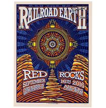 Railroad Earth - Signed 2016 Red Rocks Poster