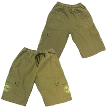Railroad Earth - Fair Trade Tree Logo Olive Shorts
