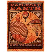Railroad Earth - Dec. 2015 Chicago, IL New Years Poster