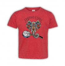Railroad Earth - Elephant Vintage Red Toddler Tee