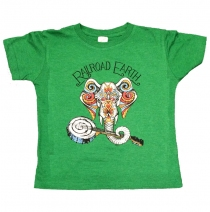 Railroad Earth - Elephant Vintage Green Toddler Tee