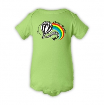 Railroad Earth - Hot Air Balloon Lime Onesie