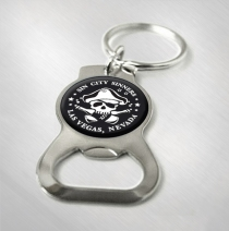 Sin City Sinners - Pirate Logo Bottle Opener Keychain