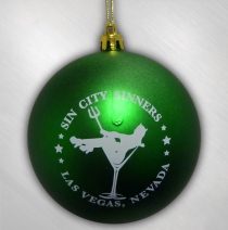 Sin City Sinners - Green Ornament