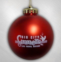 Sin City Sinners - Red Ornament