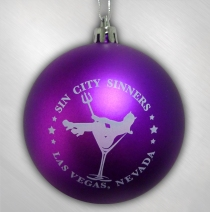 Sin City Sinners - Purple Ornament