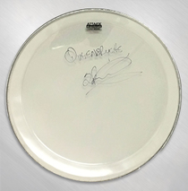 "Queensryche - Scott Rockenfield Signed 16"" Drum Head"