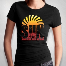 S.U.N. - Women's Album Cover Black Tee