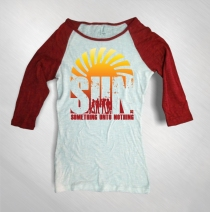 S.U.N. - Women's Album Cover 3/4 Red Sleeved Raglan