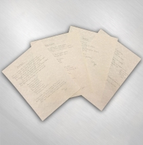 S.U.N. - Handwritten Lyric Set of Four #1