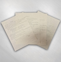 S.U.N. - Handwritten Lyric Set of Four #2