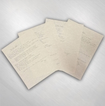 S.U.N. - Handwritten Lyric Set of Four #3