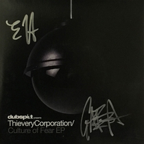 "Thievery Corporation - Signed Culture of Fear 7"" Vinyl EP"