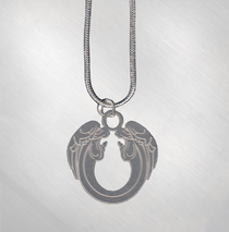 Ted Neeley - Large Angels Pendent on Sterling Silver Chain