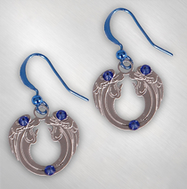Ted Neeley - Blue Bling Angels Earrings