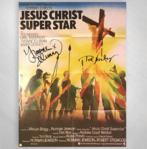Ted Neeley & Yvonne Elliman - French 1974 Poster Repro Signed