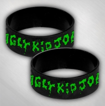 Ugly Kid Joe - Green Logo Silicone Wristband