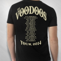 The Voodoo's - Men's Sugar Skull 2014 Tour Tee