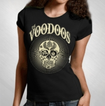 The Voodoo's - Women's Sugar Skull Tee