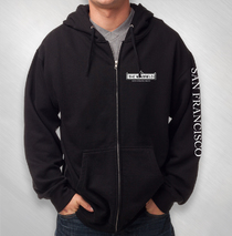 The Warfield - Logo Zip Hoodie