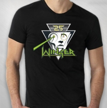 Winger - Men's 25th Anniversary Logo Black Tee