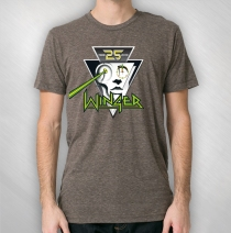 Winger - Men's 25th Anniversary Logo Vintage Tri-Coffee Tee