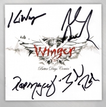 "Winger - Autographed Edition ""Better Days Comin' "" CD"
