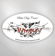 Winger - 2 Better Days Comin' Oval Stickers