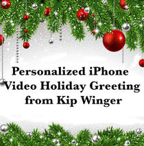 Personalized iPhone Video Holiday Greeting from Kip Winger
