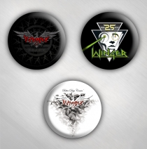 Winger - Button Pack 25th Anniv. - Set Of 3