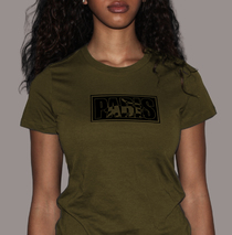 Apparel - Womens - Paris Logo - Army Green T-Shirt