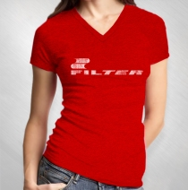 Filter - Women's Red Vintage Logo V-Neck