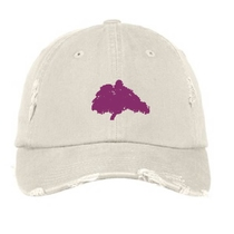 JUSTIN QUILES - Stone White Tree Logo Dad Hat
