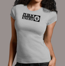 Apparel - Womens - Public Enemy - Logo Heather T-Shirt