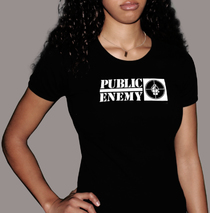 Apparel - Womens - Public Enemy - Logo Black T-Shirt