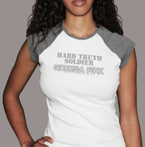 Apparel - Womens - Hard Truth Soldier White T-Shirt